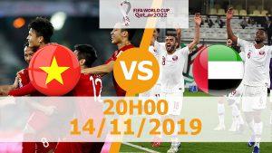 Trực tiếp Việt Nam vs UAE 14/11 lúc 20h00