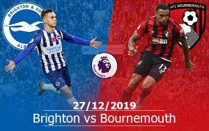 Brighton vs Bournemouth: 19h30, 28/12, Ngoại hạng Anh